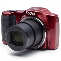 Cámara digital kodak friendly zoom fz201 roja - 16mpx - lcd 3'/7.62cm - zoom 20x opt - angulo 25mm - vídeo 720p - usb - batería