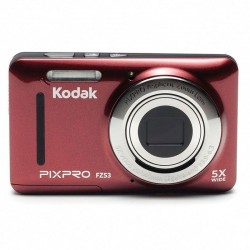 Cámara digital kodak pixpro fz53 roja - 16mpx - lcd 2.7'/6.82cm - zoom 5x opt - angular 28mm - vídeo hd 720p - usb 2.0 -