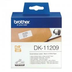 Etiquetas precortadas térmicas brother dk11209 - 29 x 62mm - para 800 etiquetas - color blanco - compatiblidad según