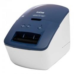 Impresora de etiquetas térmica brother ql-600b - 44 etiquetas/minuto - ancho máximo etiqueta 62mm - usb2.0 - software diseño