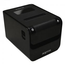 Impresora de tickets térmica approx apppos80amuse negra - 250mm/s - 203dpi - papel 80mm - autocorte/corte manual - usb / rj45 /