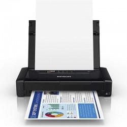 Impresora portátil epson wifi workforce wf-110w - 14/11 ppm - pantalla lcd - usb - batería recargable - cart. 266 bk/ 267