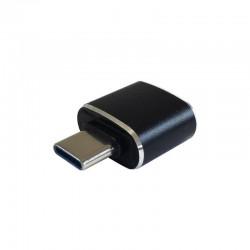 Mini adaptador usb 3.1 gen2 aisens a108-0369 - conectores tipo usb-c/m a usb tipo a/h - 3a - negro - compatible con puerto
