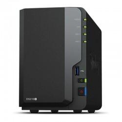 Nas synology diskstation ds218+ - 2 bahías - cpu dc 2.0ghz - 2gb ddr3l - lan gigabit - usb - usb 3.0 - esata -