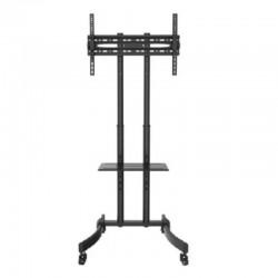 Soporte de pie con ruedas fonestar sts-4664n para tv de 37'-70'/94-178cm - peso max soportado 40kg - vesa 600*400 max - bandeja