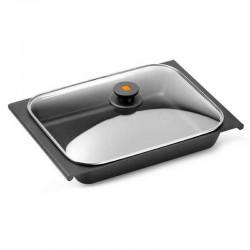 Bandeja para horno efficient bra a272331 - tapa de cristal - 41*29 cm - aluminio 6mm espesor - antiadherente teflón platinum