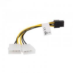 Cable 2x molex a btx 6 pin lanberg ca-hd6p-10cu-0015