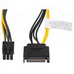 Cable alimentación sata a conector 6 pin pci express lanberg ca-sa6p-10cu-0020 - 20 cm