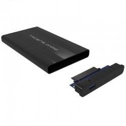 Caja externa tacens anima para discos duros 2.5'/6.35cm - usb 3.0 - incluye funda transporte - compatible con discos de 9.5mm -