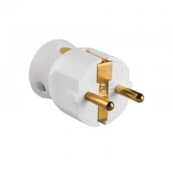Clavija estándar legrand 050188 - 2p+t - 16a - salida lateral - blanco