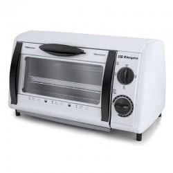 Mini horno / tostador multifuncion orbegozo ho 800 a blanco - 800w - 8l - 2 barras calefactoras de cuarzo - temporizador 15