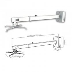 Soporte de pared para proyector de corto alcance approx appsv03p - extensible 85-135cm - peso max. 10kg - compatible pizarra