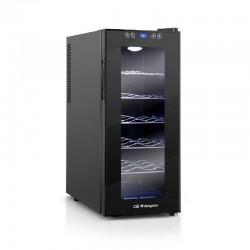 Vinoteca orbegozo vt-1210 - 12 botellas - display digital y panel de control táctil - 11-18ºc - puerta cristal con asa lateral