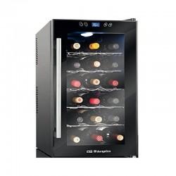 Vinoteca orbegozo vt-1860 - 18 botellas - display digital y panel de control táctil - 11º-18º - refrigeración termoeléctrica -