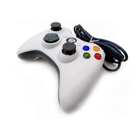 Mando Xbox360 Blanco Compatible (Con Cable)