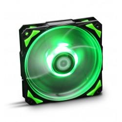 VENTILADOR 120X120 NOX HFAN 120 LED VERDE
