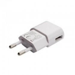 CARGADOR DE PARED GRAB'N GO GNG-119 - USB - 5V / 1A - BLANCO