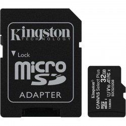 TARJETA MICROSD HC 32GB + ADAPTADOR KINGSTON CANVAS SELECT PLUS - CLASE 10 - 100MB/S