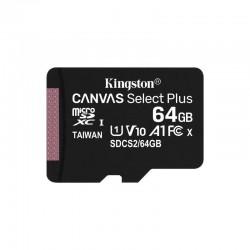 TARJETA MICROSD XC KINGSTON CANVAS SELECT PLUS - 64GB - CLASE 10 - 100MB/S