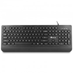 TECLADO CON CABLE NGS WIRED DOT - 105 TECLAS - PLUG AND PLAY - REPOSAMUÑECAS - CABLE 1.4 M