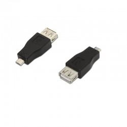 ADAPTADOR USB NANOCABLE 10.02.0004 - CONECTOR A HEMBRA / MICROUSB MACHO