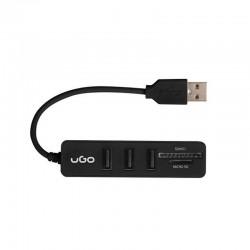 HUB USB UGO UHU MAIPO HU200 - 3*USB 2.0 + LECTOR TARJETAS SD / MICROSD - 13CM