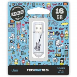 PENDRIVE TECH ONE TECH CRAZY BLACK GUITAR 16GB USB 2.0