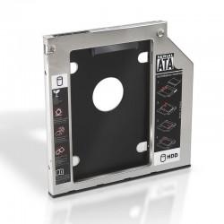 ADAPTADOR PARA PORTÁTIL AISENS A129-0151- PARA SUSTITUIR DVD DE 9.5MM POR HD/SSD DE 2.5'/6.35CM 7MM - SATA - INCLUYE TORNILLO