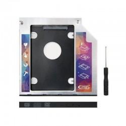 ADAPTADOR PARA PORTÁTIL NANOCABLE 10.99.0101- PARA SUSTITUIR DVD DE 9.5MM POR HD/SSD DE 2.5'/6.35CM 7MM - SATA - INCLUYE TORN