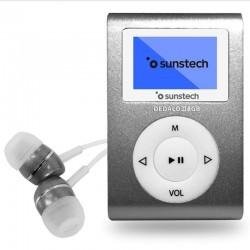 REPRODUCTOR MP3 SUNSTECH DEDALOIII 8GB GREY - PANTALLA 2.79CM - FM 20 PRESINTONIAS - GRABADORA RADIO/VOZ - BATERÍA - CLIP SUJ