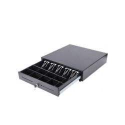 HM-Systems - Cajón portamonedas 8 compartimentos para monedas - 5 compartimentos para billetes - color negro