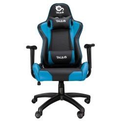 Talius - Silla Gecko Gaming - Negra/azul - brazos fijos - butterfly - base nylon - ruedas nylon