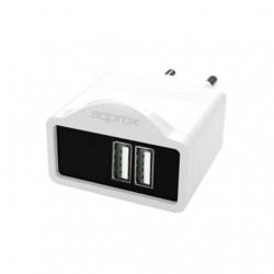 CARGADOR USB APPROX APPUSBWALL21W BLANCO