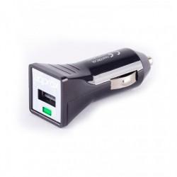 CARGADOR COCHE USB APPROX NEGRO