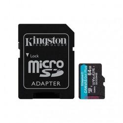 MEM MICRO SDXC 64GB KINGSTON CANVAS GO UHS-I CL10