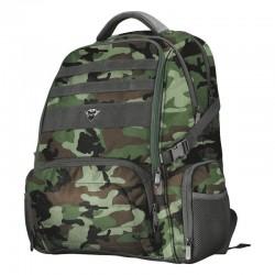 Mochila Trust Gaming GXT 1250G Hunter Gaming Backpack / Antirrobo/ Impermeable/ Camuflaje Verde