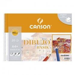 Cuaderno de dibujo con espiral canson c200400695/ a4+/ 20 hojas/ con recuadro