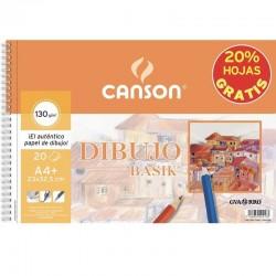 Cuaderno de dibujo con espiral canson c400110484/ a4+/ 20 hojas/ sin recuadro