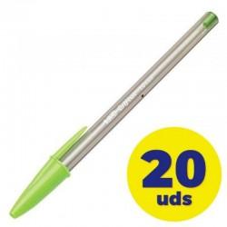 Caja de bolígrafos de tinta de aceite bic cristal fun 927885/ 20 unidades/ lima