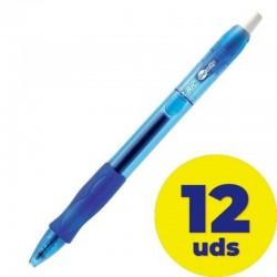 Caja de bolígrafos de tinta de gel bic gelocity 829158/ 12 unidades/ azules