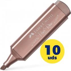 Caja de marcadores fluorescentes faber castell textliner 46 154626/ 10 unidades/ rosa metálico