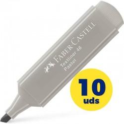 Caja de marcadores fluorescentes faber castell textliner 46 154634/ 10 unidades/ gris seda
