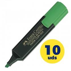Caja de marcadores fluorescentes faber castell textliner 48 09154863/ 10 unidades/ verdes