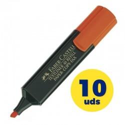Caja de marcadores fluorescentes faber castell textliner 48 154815/ 10 unidades/ naranjas