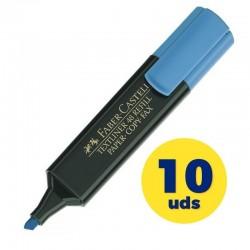 Caja de marcadores fluorescentes faber castell textliner 48 154851/ 10 unidades/ azules
