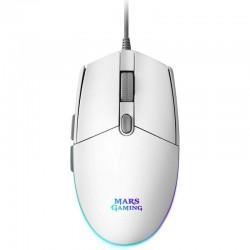 Ratón gaming mars gaming mmgw/ hasta 3200 dpi/ blanco