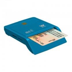 Lector de dni y tarjetas woxter combo pe26-146/ azul/ usb 2.0