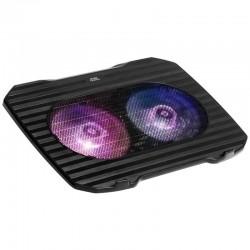 Soporte refrigerante mars gaming mnbc0 para portátiles hasta 15.6'/ iluminación led