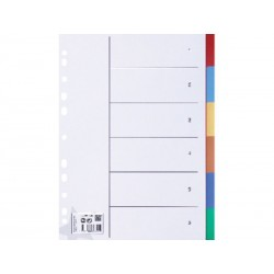 5 STAR SEPARADORES POLIPROPILENO 6 POST IT 4COLORES 929244