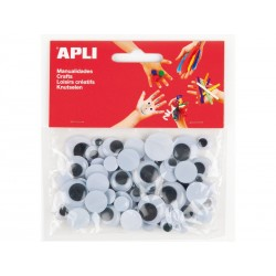 APLI BOLSA OJOS MOVILES NEGRO RED 75 U 13058